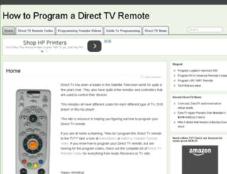 programdirecttvremote.com screenshot