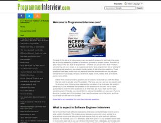 programmerinterview.com screenshot