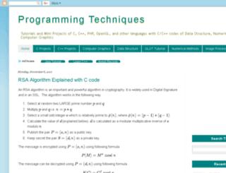 programming-technique.blogspot.com screenshot