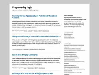 programminglogic.com screenshot