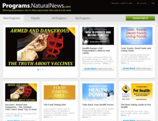 programs.naturalnews.com screenshot