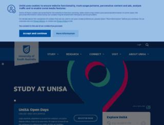 programs.unisa.edu.au screenshot