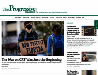progressive.org screenshot