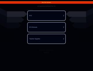progressiveteacher.in screenshot