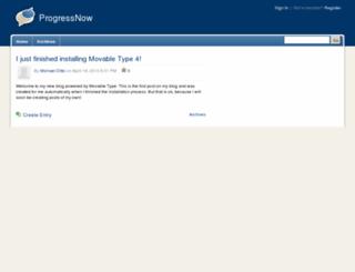 progressnowaction.org screenshot