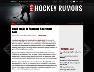prohockeyrumors.com screenshot
