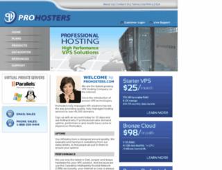 prohosters.com screenshot
