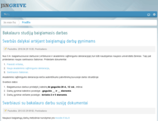 proin.ktu.lt screenshot