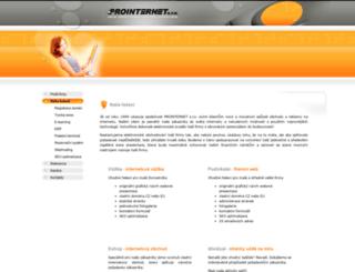 prointernet.cz screenshot