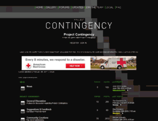 project-contingency.forumotion.com screenshot