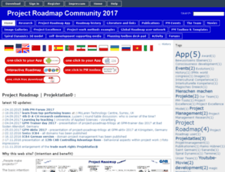 project-roadmap.com screenshot