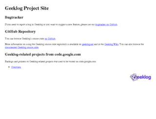 project.geeklog.net screenshot