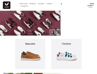 project.vert-shoes.com.br screenshot