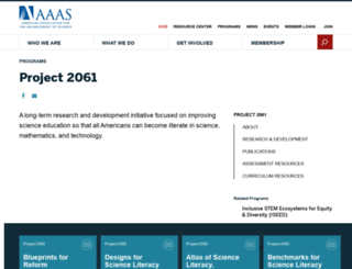 project2061.org screenshot