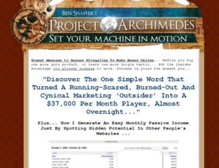 projectarchimedes.com screenshot