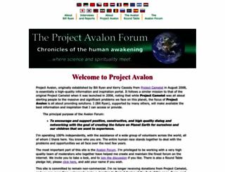 projectavalon.net screenshot