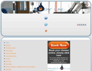 projectbodyuk.co.uk screenshot