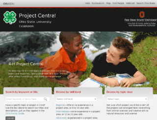 projectcentral.ohio4h.org screenshot