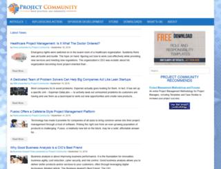 projectcommunityonline.com screenshot