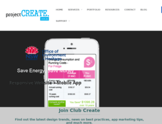 projectcreate.com.au screenshot