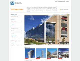 projectgallery.ppg.com screenshot