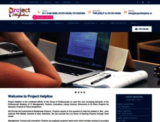 projecthelpline.in screenshot