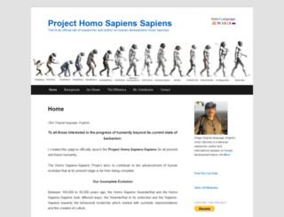 projecthomosapienssapiens.org screenshot
