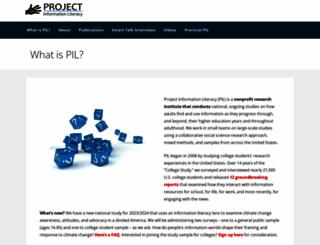 projectinfolit.org screenshot