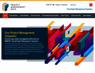 projectmanagementdocs.com screenshot