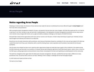 projectmanagementjobs.arraspeople.co.uk screenshot