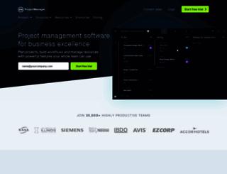 projectmanager.com screenshot