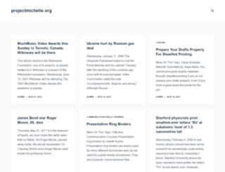 projectmichelle.org screenshot