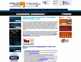 projectorlampexperts.com screenshot