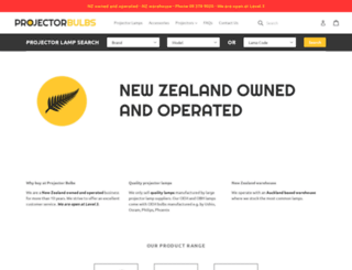 projectorlamps.co.nz screenshot