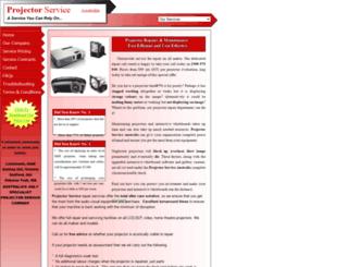 projectorservice.com.au screenshot