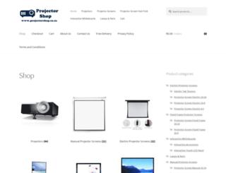 projectorshop.co.za screenshot