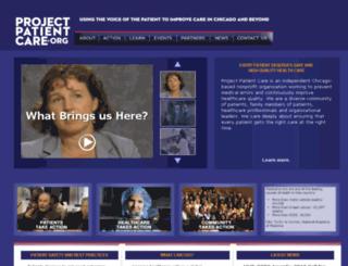 projectpatientcare.net screenshot