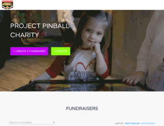 projectpinball.rallyup.com screenshot