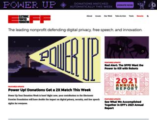 projects.eff.org screenshot