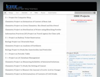 projects.icbse.com screenshot