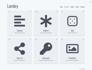 projects.lambry.com screenshot