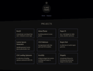 projects.lukehaas.me screenshot