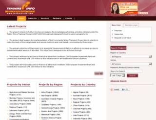 projects.tendersinfo.com screenshot