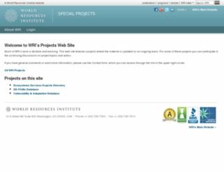 projects.wri.org screenshot