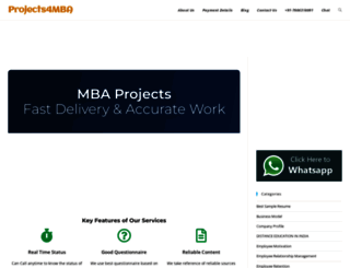 projects4mba.com screenshot