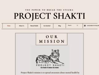 projectshakti.org screenshot