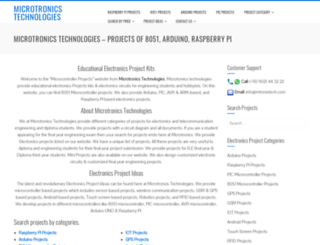 projectsof8051.com screenshot