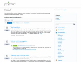 projecturf.uservoice.com screenshot