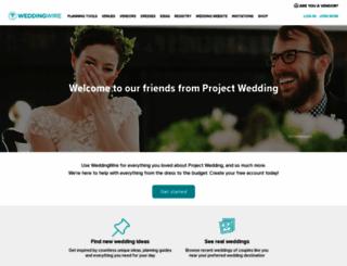 projectwedding.com screenshot