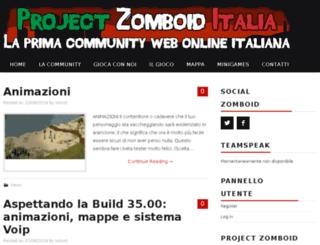 projectzomboiditalia.com screenshot